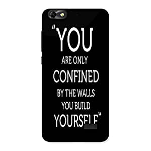 AJAYENTERPRISES You Yourself Back Case Cover for Honor 4C