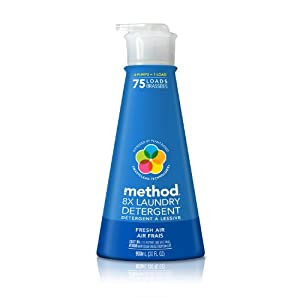 Method 8x Concentrated Laundry Detergent, 75 Loads, Fresh Air, 30 Fluid Ounce