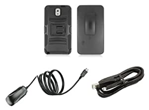 Amazon.com: Samsung Galaxy Note 3 - Accessory Kit - Black Dual Layer