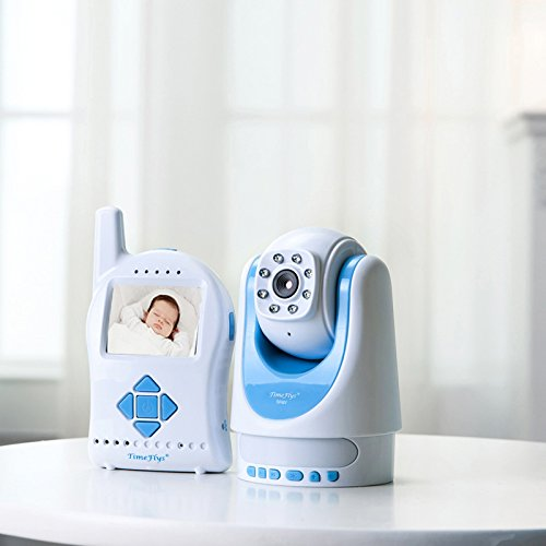 Timeflys 2.4Ghz Digital Video Baby Monitor With Infrared Night Vision, Remote Mp3 Lullaby, Remote Camera, Remote Zoom, And Remote Temperature Display