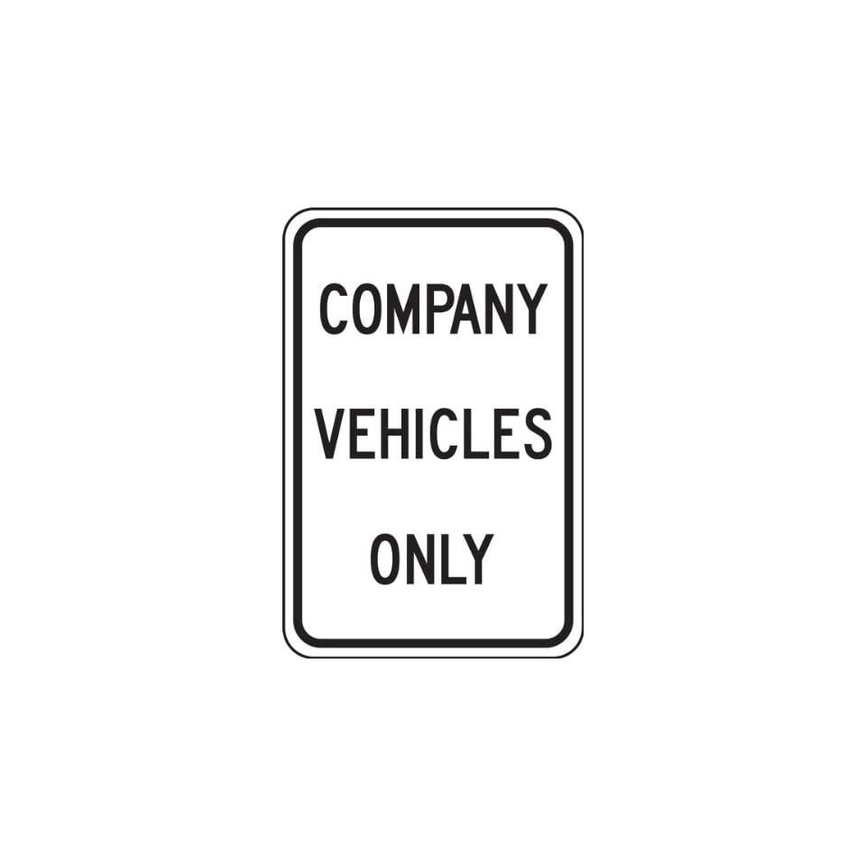 Accuform Signs FRP247RA Engineer Grade Reflective Aluminum Parking Sign, Legend COMPANY VEHICLES ONLY, 18 Length x 12 Width x 0.080 Thickness, Black on White
