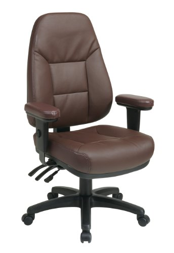 Office Star Work Smart Multi Function High Back Eco Leather