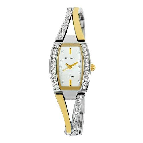 Armitron NOW Women's 753856SVTT Swarovski Crystal Two-Tone Bangle Watch