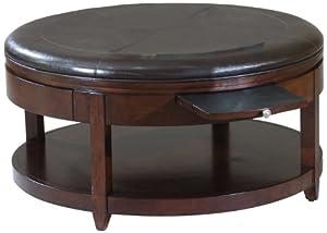 Amazon Com Magnussen Brunswick Wood Round Cocktail Table
