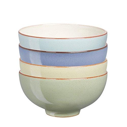 덴비 헤리티지 라이스 볼 4개 세트 (국그릇 용) Denby USA Heritage Assorted Rice Bowls (Set of 4), Multicolor