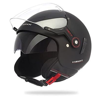 NEXX X60 Vision Plus - Casque Jet scooter/moto noir