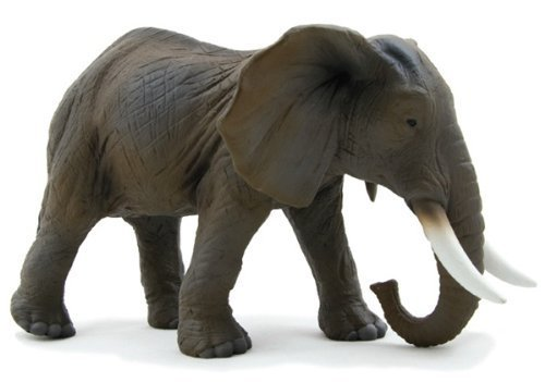 Mojo Fun 387001 African Elephant - Realistic International Wildlife Toy Replica