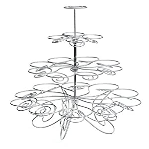 Wilton 307-826 Cupcakes 'n More 23-Count 4-Tier Metal Dessert Stand
