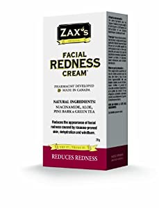 Zax's Facial Redness Cream - Satisfaction Guaranteed! Perfect for: Windburn, Rosacea, Dehydrated Skin! - Pharmacist Developed, Natural Ingredients. from Zax Healthcare Inc.