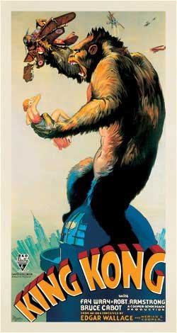 King Kong ~ Lithographic Movie Poster Reproduction
