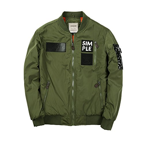DAVID.ANN Men's Bomber Flight Jacket 2