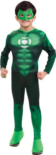 Green Lantern Child's Deluxe Hal Jordan Costume with Muscle Chest