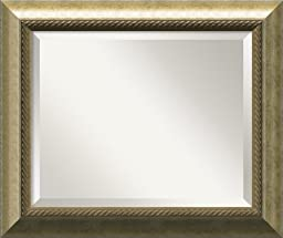 Wall Mirror Medium, Champagne Wood: Outer Size 25 x 21\