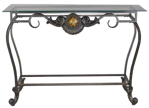 Cheap Cal Lighting TA-587CST Iron Console Sofa Table, Antique Bronze (TA-587CST)