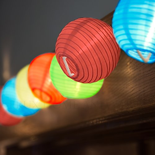 24 Multi Color Mini Nylon String Patio Lights - Extra Long Extendable Indoor Outdoor - 16Ft ...