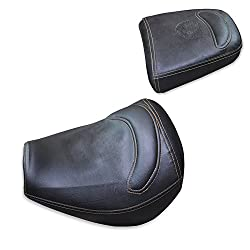 ASCO 95056 Royal Enfield Tunderbird PU Finish Seat Cover with Extra Cushion BUCKET FITTING (Coffee Brown)