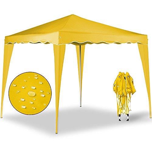 Gazebo Capri 3x3m giallo - Gazebo pieghevole Tenda Tenda da giardino Protezione solare Pop-up