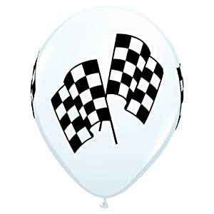 Latex Balloons - Racing Flags - Package of 10