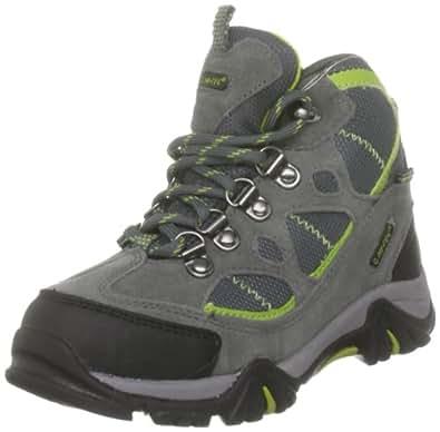 Hi-Tec Renegade Trail, Unisex-Child Hiking Boots, Graphite/Dark Grey/Chartreuse, 1 UK
