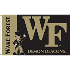 Buy NCAA Wake Forest Demon Deacons 3-by-5 Foot Flag with Grommets by BSI
