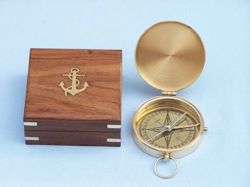 Brass Compass Nautical Tropical Home Decor