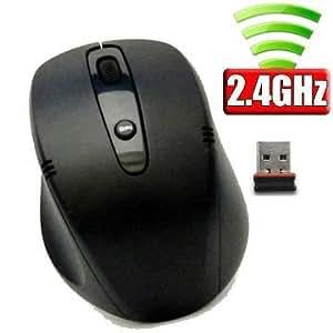 ユニーク ワイヤレス2.4G NANOレシーバーマウス PC連動電源 ブラック M318GB