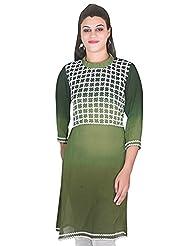 Beautifull Green Pattern Kurti By Selfi
