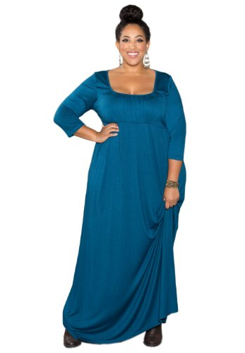 Sealed With A Kiss Designs Plus Size Lois Maxi Dress – Size 1X, Teal