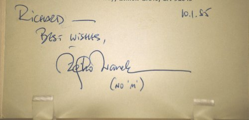 Zeljko Ivanek Vintage Autograph - 3x5 Card - Inscribed - Dated 10/01/1985 - Tex / White Squall / Donnie Brasco / Hannibal / Black Hawk Down / Live Free or Die Hard / In Bruges / OZ / True Blood - Very Collectible - Hollywood Actor белье david gandy for autograph