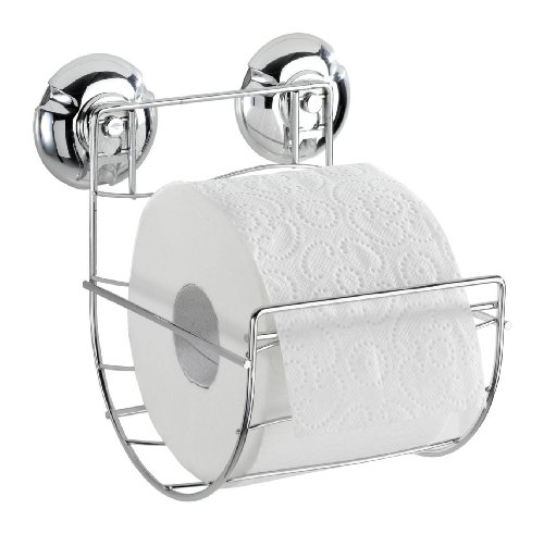 Wenko 16968100 Milazzo Toilet Paper Holder, 13.5 x 15 x 14 cm, Chrome