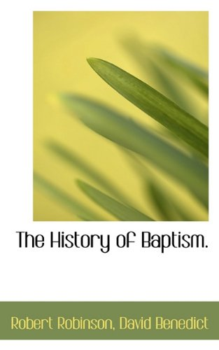 The History of Baptism.