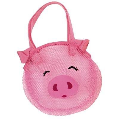Kingsley Nylon Mesh Bag For Bath/Pool Holds Toys, Soap, Shampoo - Pig