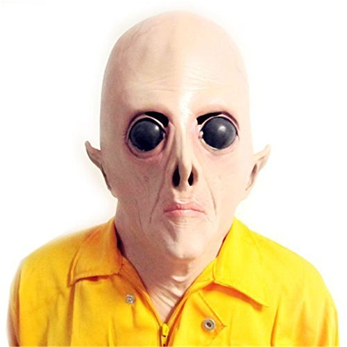 SPOD® Creepy UFO Latex Alien Big Eyes Mask for Holloween Party (On promotion!)