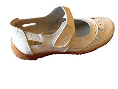 Womens Leather Velcro Comfort Shoes Sandals SIZE 3