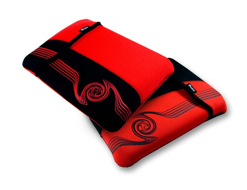 E-volve reversible neoprene sleeve case cover for netbook / laptop / notebook - Liquid design - in size: 8.9 inch / 9