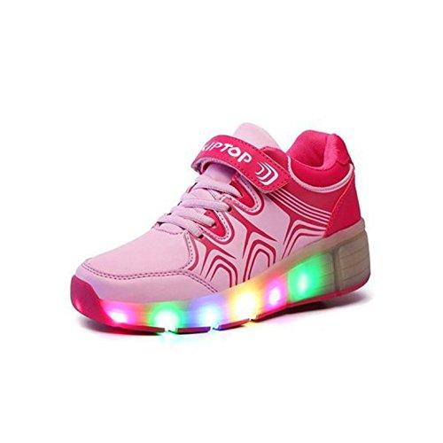 KIPTOP-Zapatillas-con-ruedas-led-5-colores-deportivas-carrefour-para-nios-mujer-hombre-2016