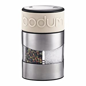 Bodum Twin Dual Salt and Pepper Grinder, Off White