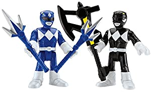 Fisher-Price Imaginext Power Rangers Blue Ranger & Black Ranger Toy Figure