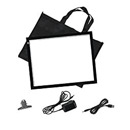 Vincent &Bell 19 Inch A3 Ultra Thin LED Tracing Board Light Box Light Pad Tattoo Stencil Table For Artists Drawing Sketching Animation