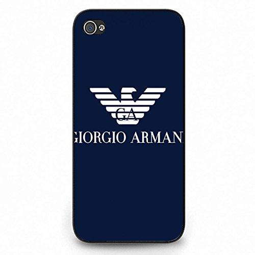 Giorgio Armani Logo Phone Case Back Hard Plastic Case Cover For Iphone 5C,Black Phone Case For Iphone 5C