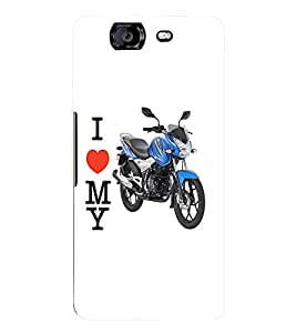 Fuson 3D Printed Discover Bike Designer Back Case Cover for Micromax Canvas Knight A350 - D780