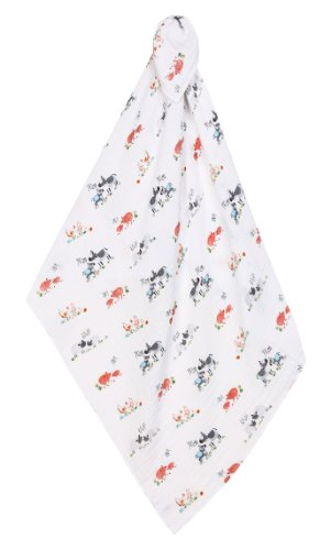 Angel Dear Swaddle Blanket, Farm Yard - 1