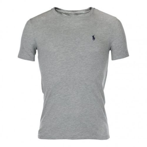 Ralph Lauren -  T-shirt - Crew Neck - Basic - Collo a U  - Uomo Grigio grigio scuro
