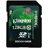 Kingston carte SD SDX10V/128GB UHS-I SDHC/SDXC Classe 10 - 128Go