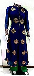 Lilots Royal Blue Georgette wedding-salwar-kameez