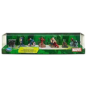 The AVENGERS Figure Play Set -- 7-Pc - GORGEOUS SET - COLLECTORS EDITION IRON MAN, CAPTAIN AMERICA, THOR AND MORE ACTION FIGURES