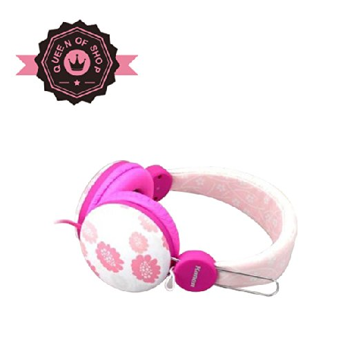 Pink 3.5Mm Adjusting Stereo Headphone Earphone Headset For Dj Psp Mp3 Mp4 Pc With Micro And Audio Transfer As Gift