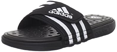 adidas Women's Adissage SC Sandal,Black/White/Black,5 M US