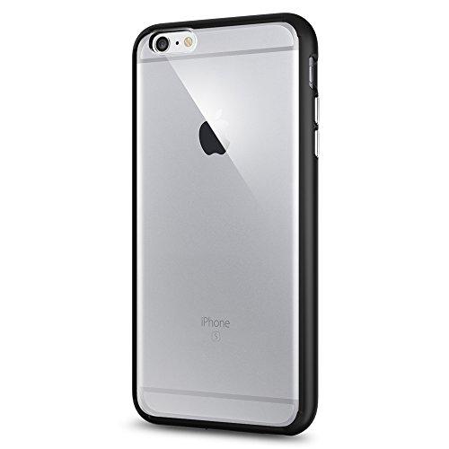 Spigen iPhone6s Plus ケース / iPhone6 Plus ケース, ウルトラ・ハイブリッド [ 背面 クリア ] アイフォン6s プラス / 6 プラス 用 米軍MIL規格取得 耐衝撃カバー (ブラック SGP11646)