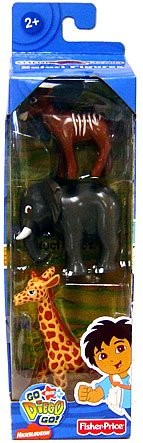 Go Diego Go! Safari Figure 3-Pack (Elephant, Kudo & Giraffe) - Buy Go Diego Go! Safari Figure 3-Pack (Elephant, Kudo & Giraffe) - Purchase Go Diego Go! Safari Figure 3-Pack (Elephant, Kudo & Giraffe) (Fisher Price, Toys & Games,Categories)